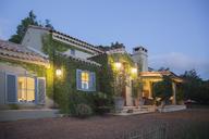 Luxury villa illuminated at night - CAIF17850