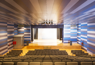 Seating and stage in empty auditorium - CAIF18303