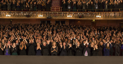 Audience applauding in theater - CAIF18402