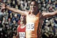 Runner celebrating - CAIF18486
