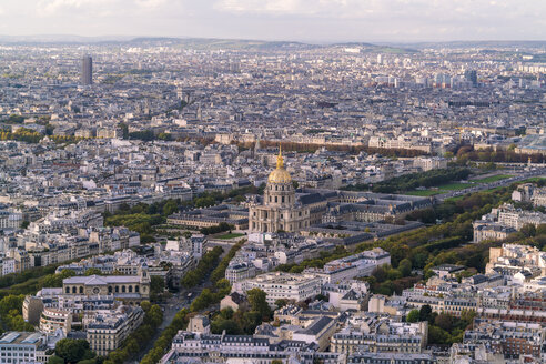 France, Paris, Cityscape with Les Invalides and Seine river - TAMF00949