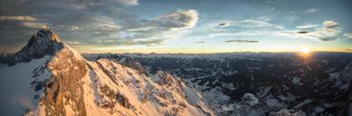 Austria, Salzkammergut, Koppenkarstein at sunset - STCF00408