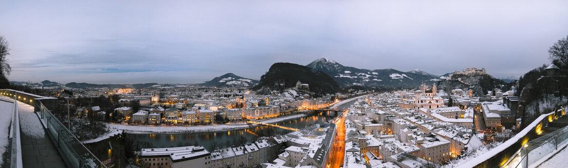 Austria, Salzburg, cityscape as seen from Moenchsberg - STCF00417