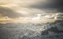 Austria, Salzkammergut, Dachstein massif at sunrise - STCF00483