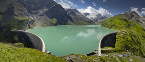 Austria, Kaprun, Mooserboden dam with walls - STCF00486