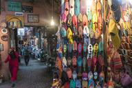 Morocco, Marrakesh, Medina, Bazar, moroccan slippers - TAM00958