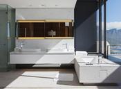 Sinks and bathtub in modern bathroom - CAIF18970