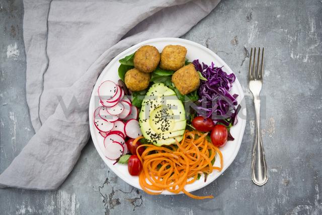 Plate of Falafel and salad - LVF06787