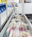Blurred view of conveyor belt in factory - CAIF19579