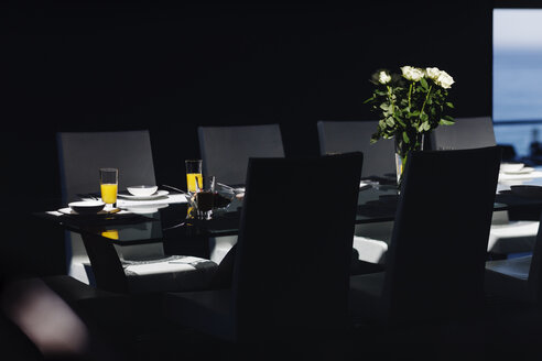 Set table in modern dining room - CAIF19843