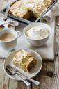 Rhubarb Baiser Cake with buckwheat and cream - EVGF03309