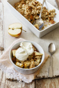 Oat flakes crumble cake with rhubarb and apple - EVGF03312