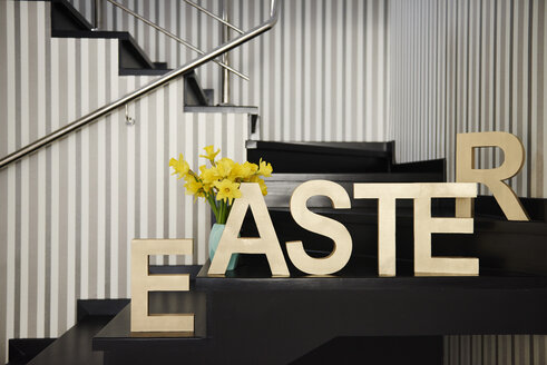 Word 'Easter' on stairs at home - ABIF00157