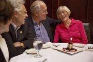 Senior friends in restaurant - CAVF17191