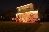 Illuminated house during Christmas at night - CAVF18474