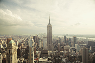 Empire State Building amidst cityscape against sky - CAVF21222