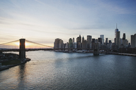 Brooklyn Bridge over East River during sunset - CAVF21336