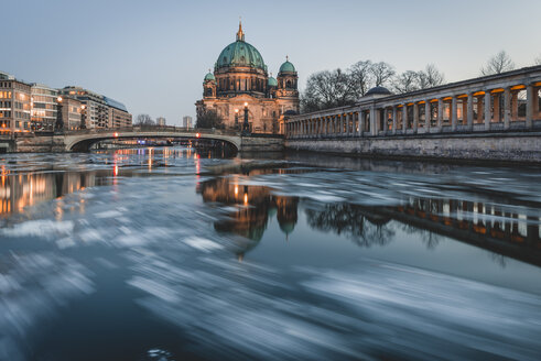 Germany, Berlin, view to Berliner Cathedral at twilight - KEBF00761
