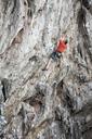 Thailand, Krabi, Lao Liang, climber in rock wall - ALRF01024