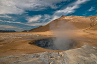 Iceland, geothermal area Hveraroend, mud pot - STCF00534