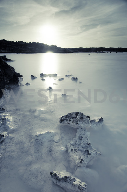 Iceland, artificial lake near geothermal area Blue Lagoon - STCF00549