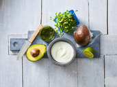 Ingredients of cream of avocado soup - KSWF01847
