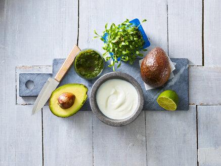 Ingredients of cream of avocado soup - KSWF01847