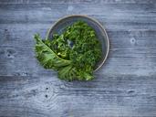 Kale leaves in bowl - KSWF01877