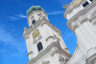 Germany, Passau, spires of St Stephan's Cathedral - SHF02015