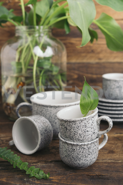Coffee set in granite look - SKCF00353