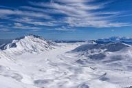 Italy, Abruzzo, Gran Sasso e Monti della Laga, Campo Imperatore plateau in winter - LOMF00714