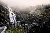 Bridge at Trollstigen next to waterfall - FOLF02422