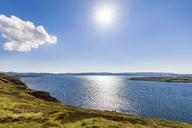 United Kingdom, Scotland, Highland, Loch Ewe against the sun - WDF04496