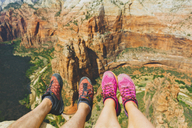 Low section of woman and man in Zion National Park - FOLF03620