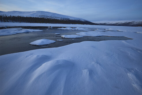 Landscape in Dalarna with ice and snow - FOLF03827