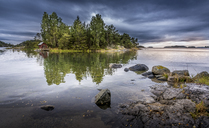 Small island on lake at Musko, Sweden - FOLF04352