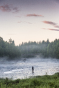 A person fishing in river - FOLF04787
