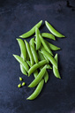 Pea pods on dark metal - CSF29008