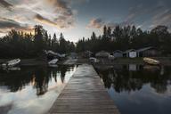 Pier on lake in Jamtland, Sweden - FOLF05189