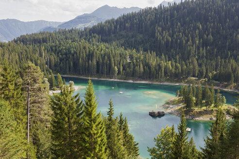Switzerland, Grisons, Cauma Lake in Flims, Alpine Lake - GWF05483