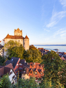 Germany, Baden-Wuerttemberg, Lake Constance, Meersburg, Meersburg Castle, lower city - WDF04545