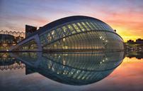 Spain, Valencia, L'Hemisferic at sunset - OLE00064