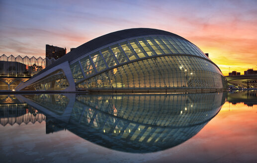 Spain, Valencia, L'Hemisferic at sunset - OLE00064