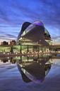 Spain, Valencia, Palau de les Arts Reina Sofia in the evening - OLE00073