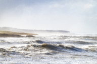 United Kingdom, Scotland, North Berwick, coast, winter storm - SMAF01003