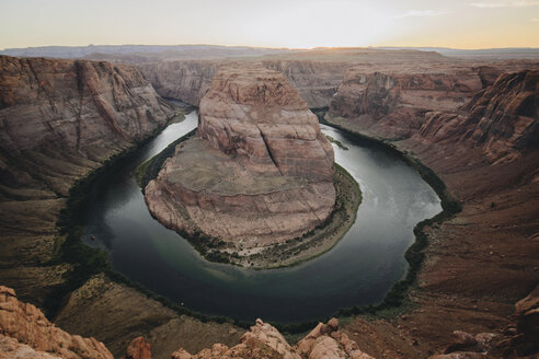 High angle scenic view of Horseshoe Bend against sky - CAVF31754
