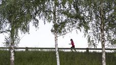 Teenage girl jogging - FOLF06037