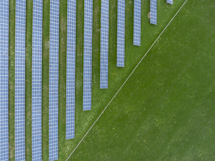 Germany, Bavaria, aerial view of solar panels - MMAF00332