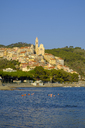Italy, Liguria, Riviera di Ponente, Cervo, townscape in the evening light - LBF01877