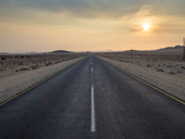 Africa, Namibia, B4 road in the morning - RJF00762